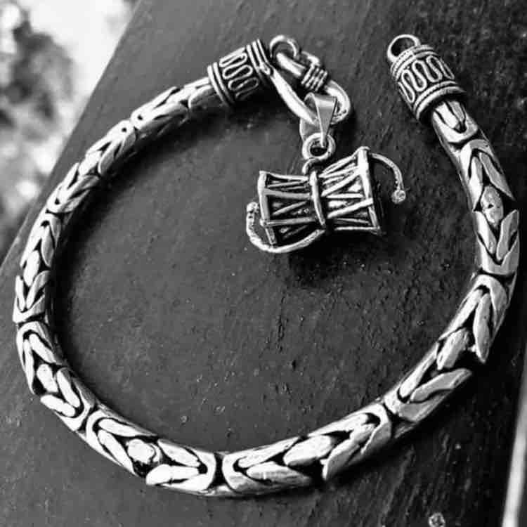 925 sterling silver Bholo Nath Damroo Bracelet