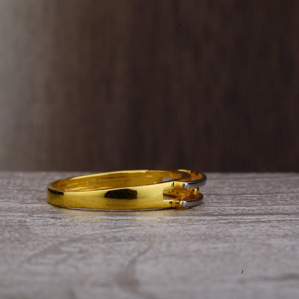 22K Plain Gold Cz Ladies Ring-LPR162