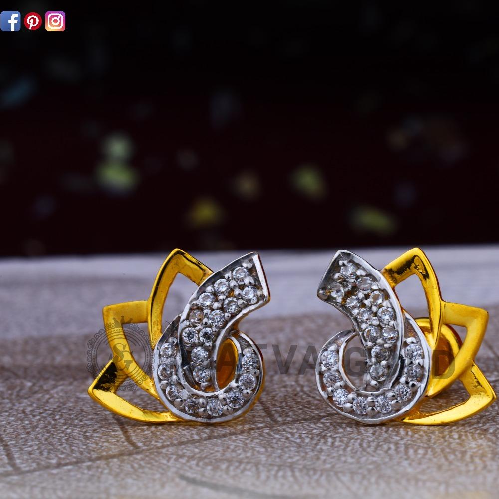 916 gold earrings sge-0045