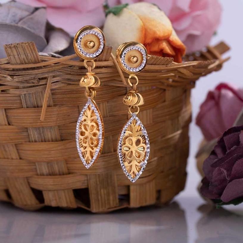 22k casting gold earring