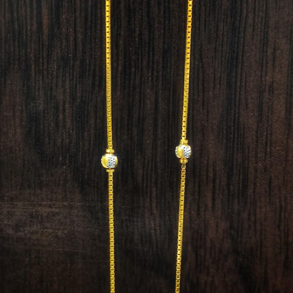 916 gold ladies lightweight chain 5gm