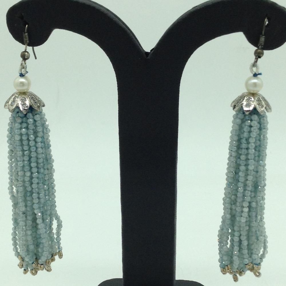 Blue Topaz Stones Ear Chandelier HangingsJER0018