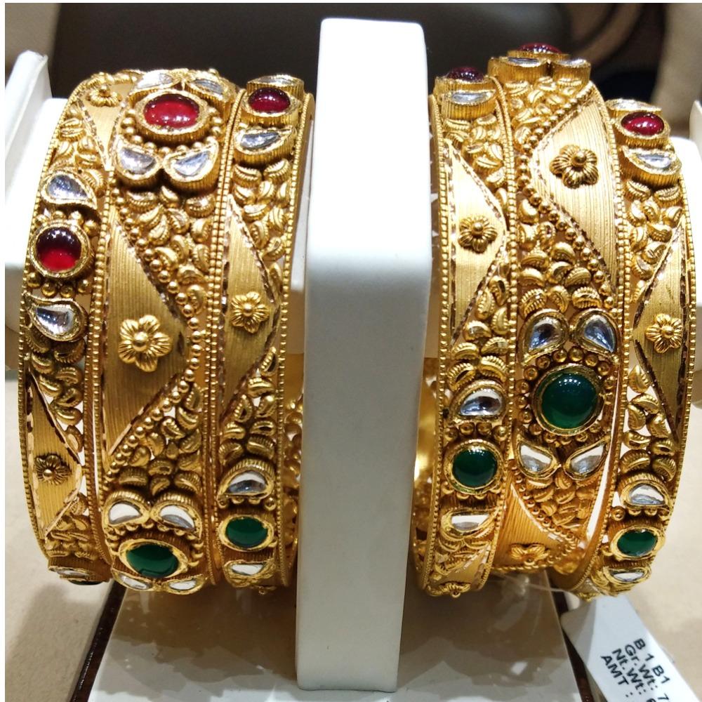 916 Gold Antique Jadtar Kadla