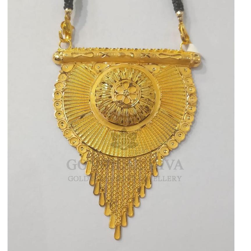 22kt gold mangalsutra gdl-h7
