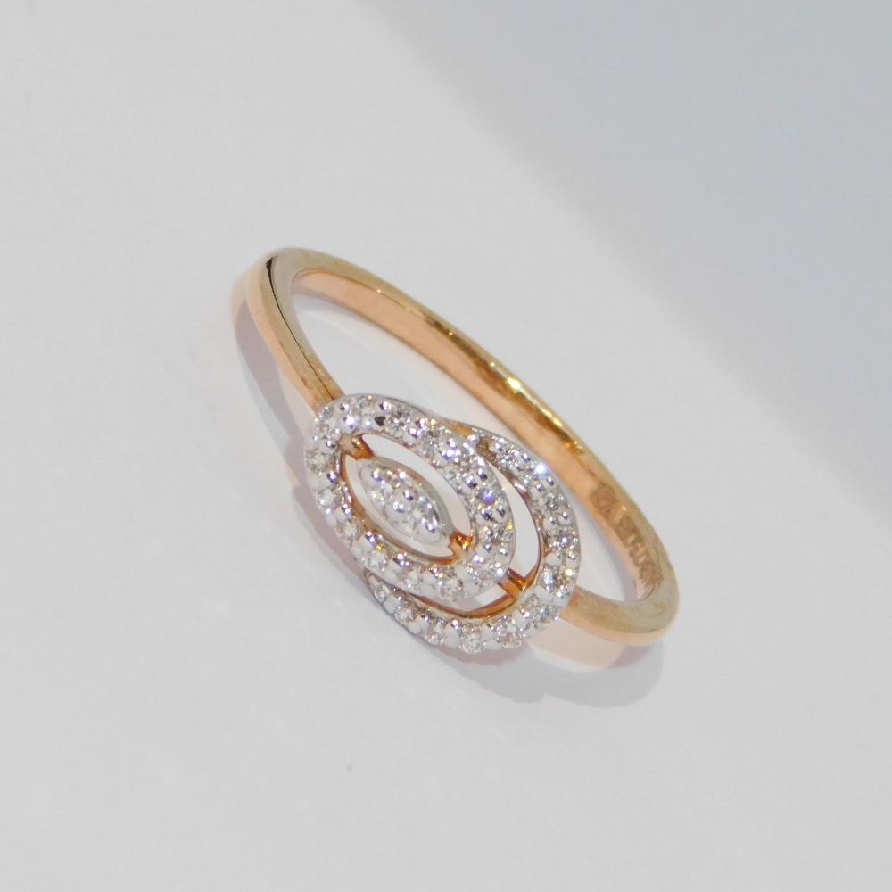 18K gold diamond ring agj-lr-301