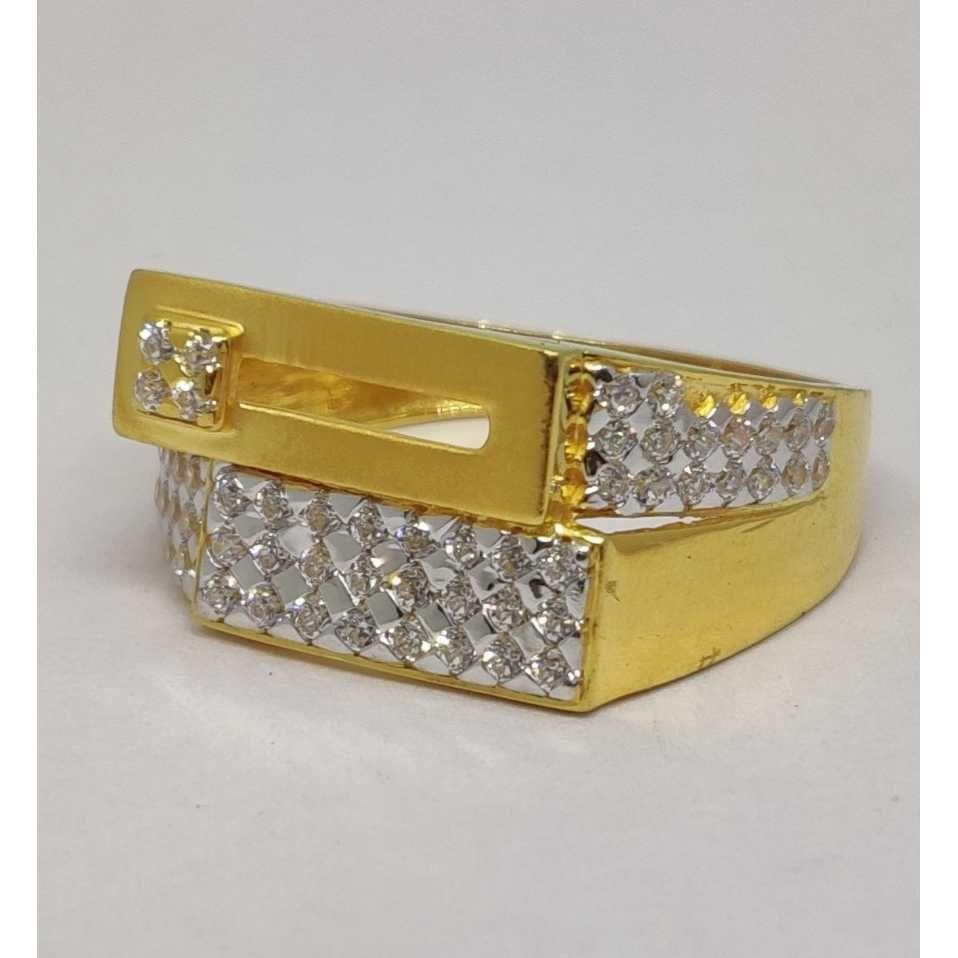 22k Gents Fancy Gold Ring Gr-28638