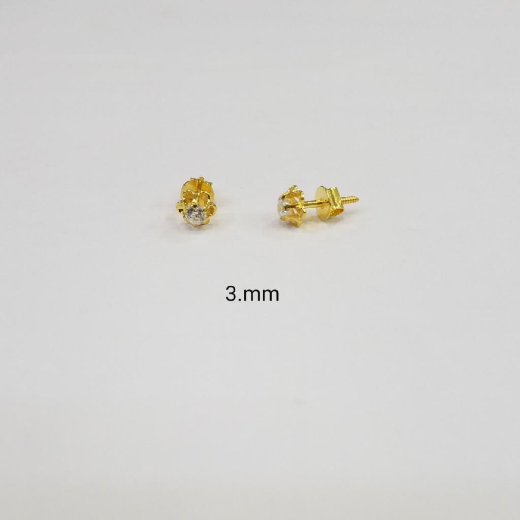 18kt gold c ston butti GZ7685