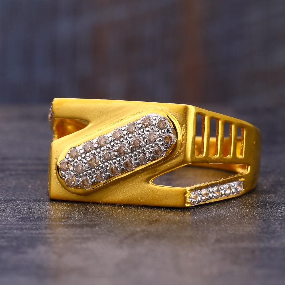 916 Gold Fancy Hallmark CZ Men's  Ring MR733