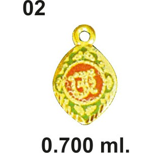 916 Gold Aum Design Pendant 02