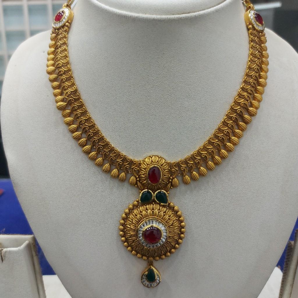 916 Gold Fancy Necklace RJAN-01
