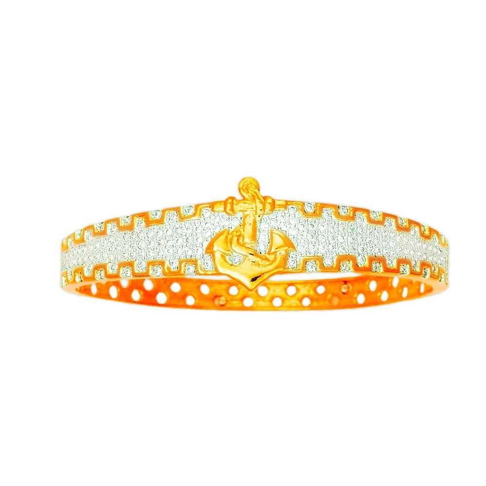 916 Yellow Gold Designer Kada