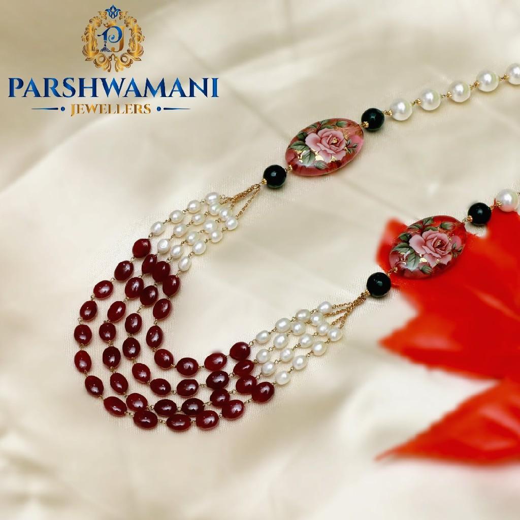 22k Real Pearl Woman Antique Necklace PJns001