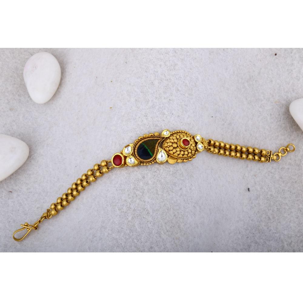 916 Gold Antique Jadtar Hathpan BRG - 0031