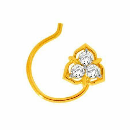 18K Gold Real Diamond Nosepin MGA - RN003