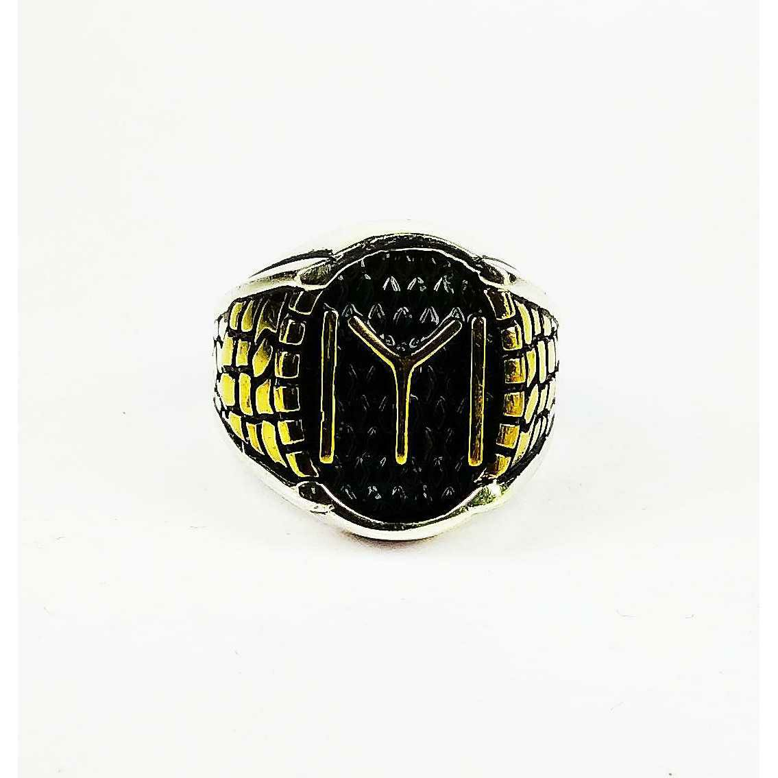 Light Weight 925 Silver IYI Gents Ring