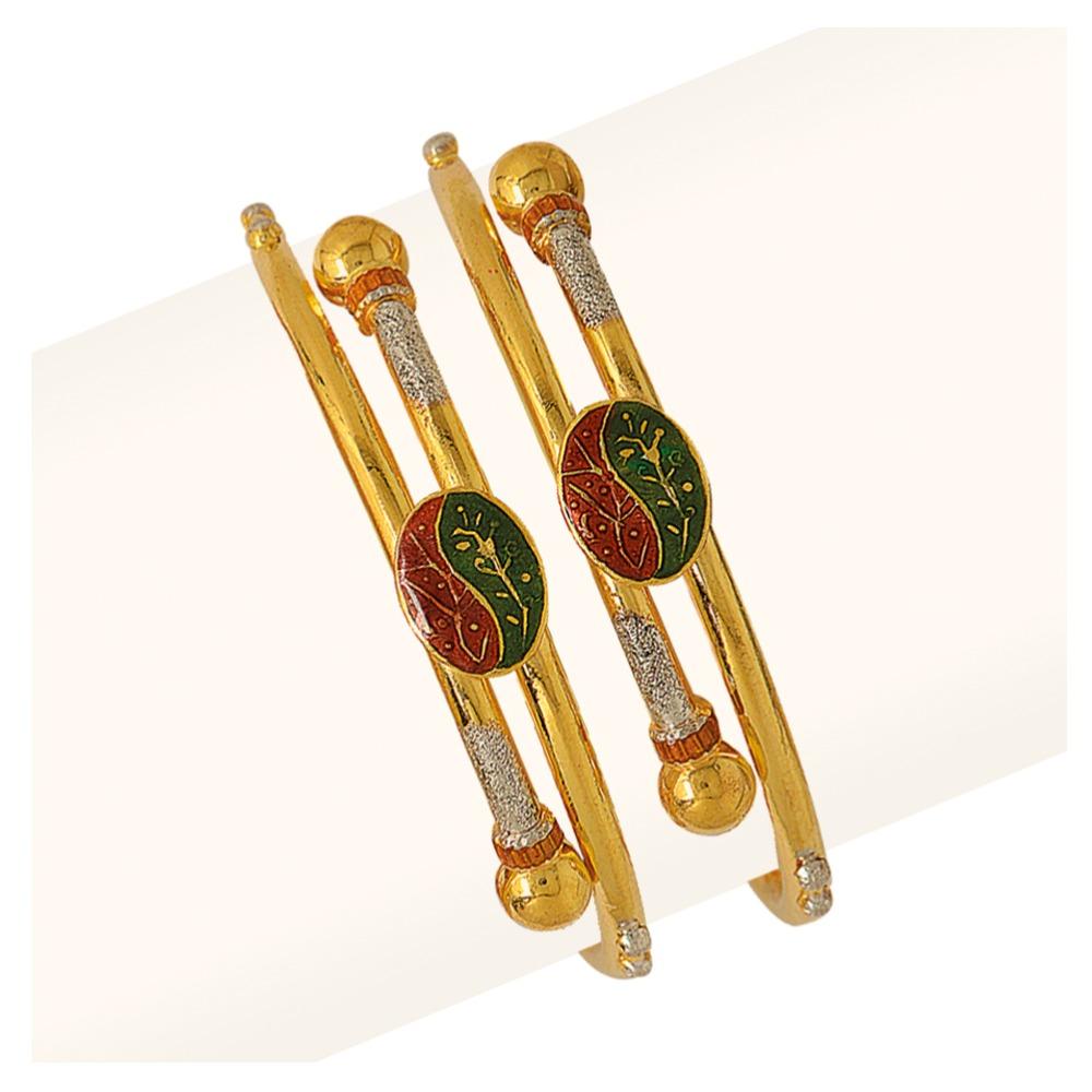 916 Colorful Design Gold Baby Bangles RJB-009