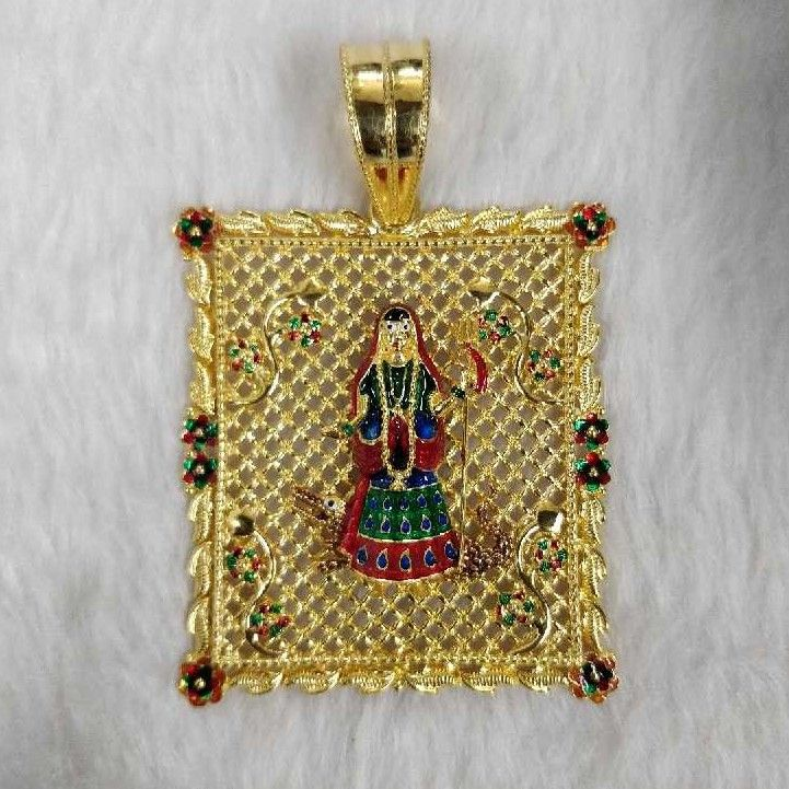 Khodiyar Maa Gold Heavyweight Pendant
