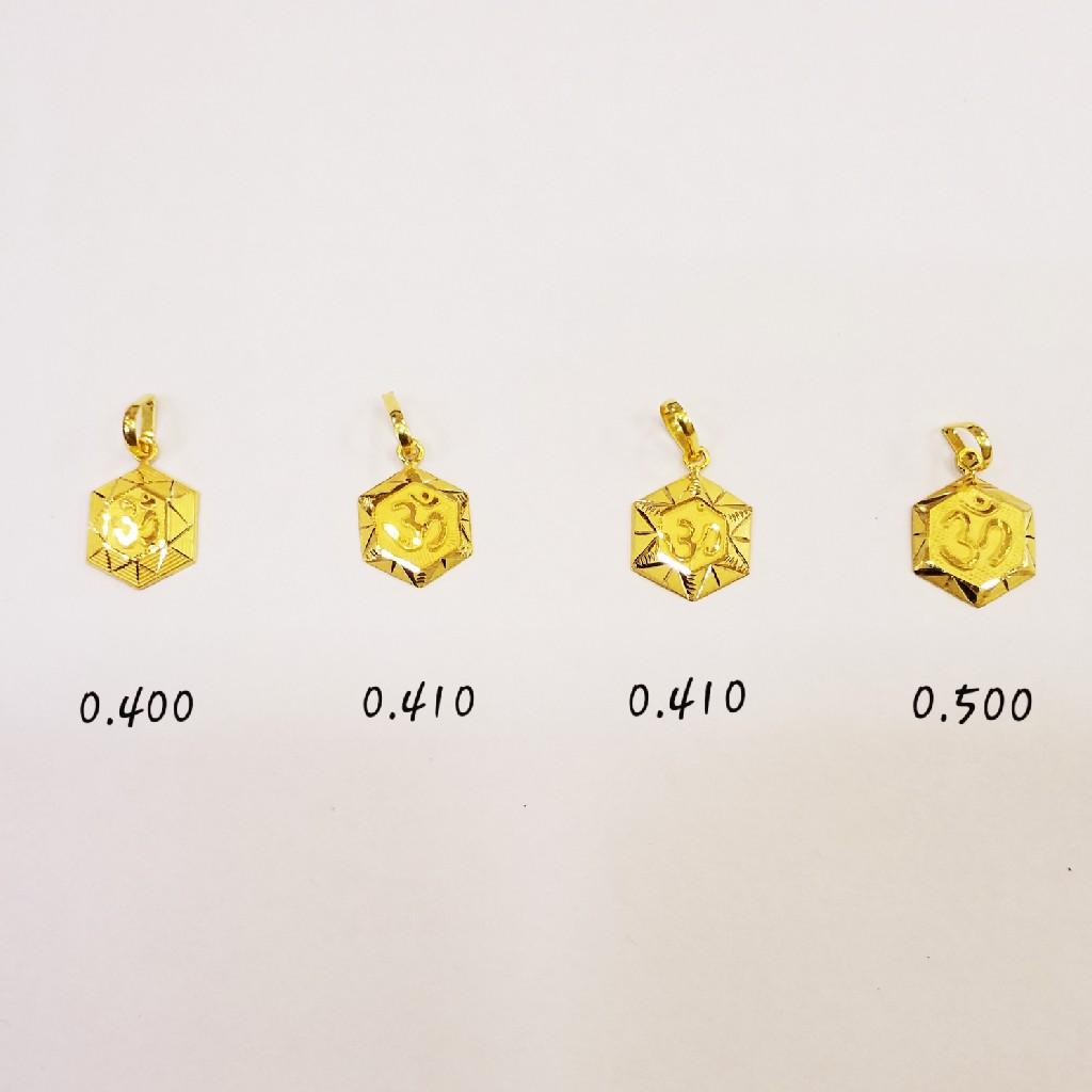 18kt plain gold pendant