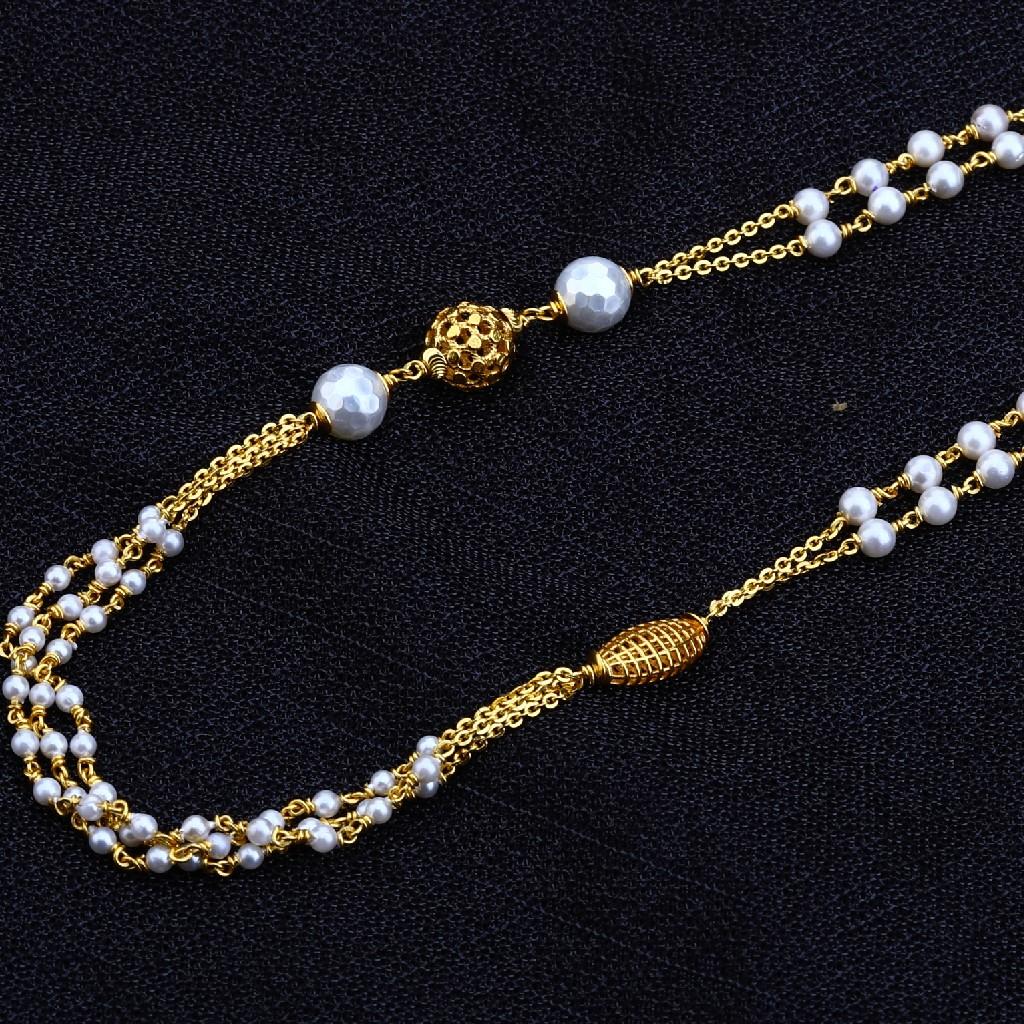 22kt Gold  Classic Women's Antique Chain Mala AC137