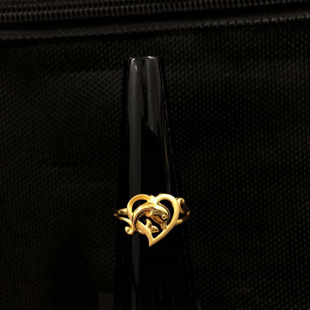 916 Gold Heart Shape Ring KDJ-R026
