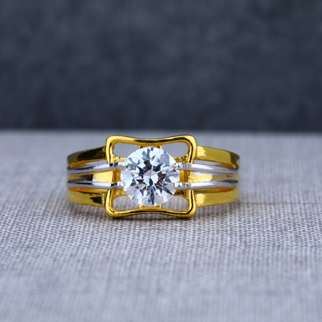 Mens fancy 916 exclusive engagement gold ring-msr03