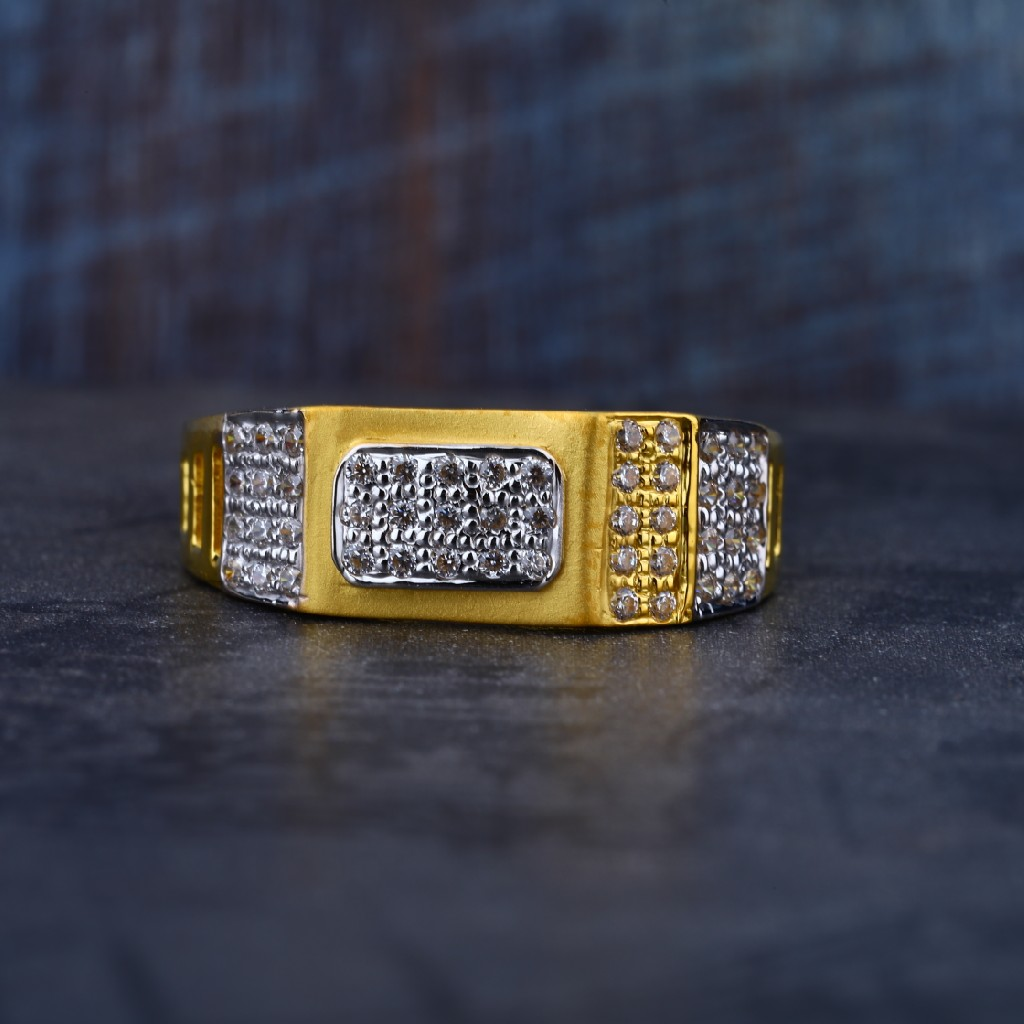 Mens 22K Light Weight Exclusive Gold Ring-MR79