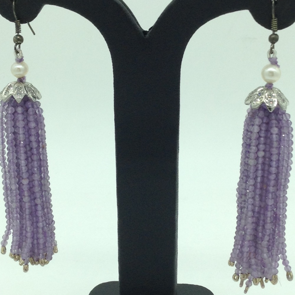 Purple AmethystStones Ear Chandelier HangingsJER0022