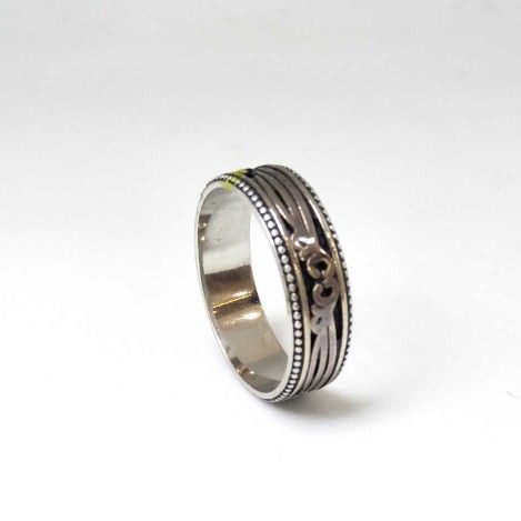 925 Sterling Silver Oxides Gents Band