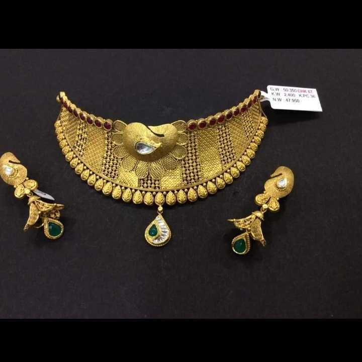 22 K Gold Choker Set.  NJ-N01142
