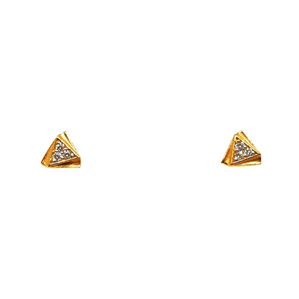 22K Gold Triangle Shaped Fancy Earrings MGA - BTG0377