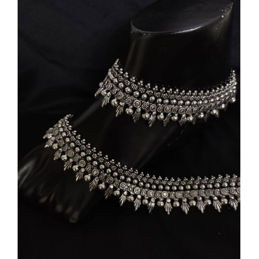 925 Pure Silver Antique Payal Handmade PO-208-19