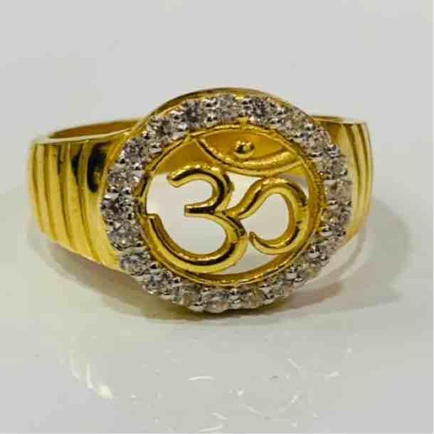22kt 916 exclusive Om design gents ring