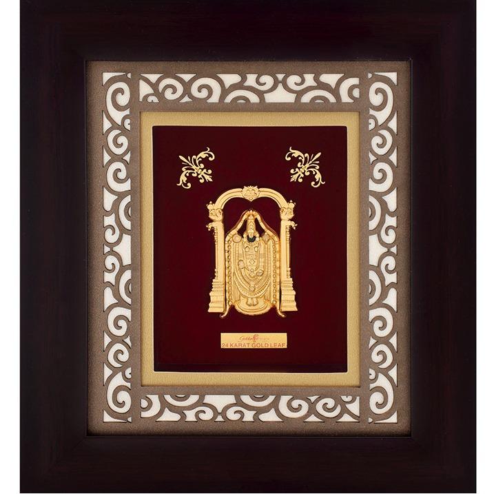 916 Gold Tirupati Balaji Photo Frame AJ-21