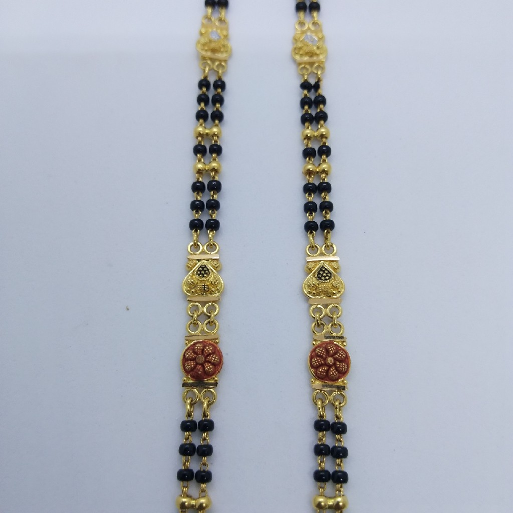 916 GOLD KOLKATI FANCY MANGALSUTRA TJ-030