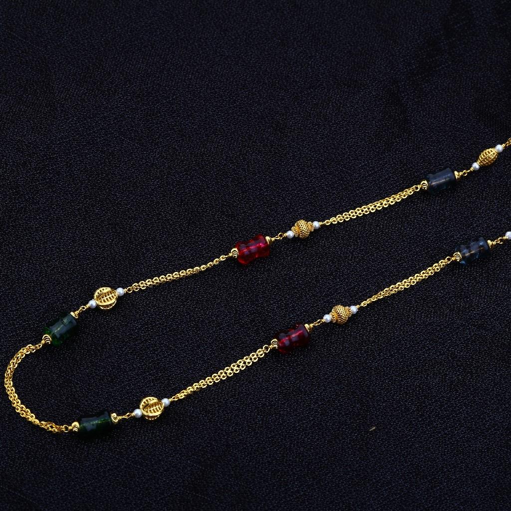 22kt Gold Hallmark Women's Antique Chain Mala AC139