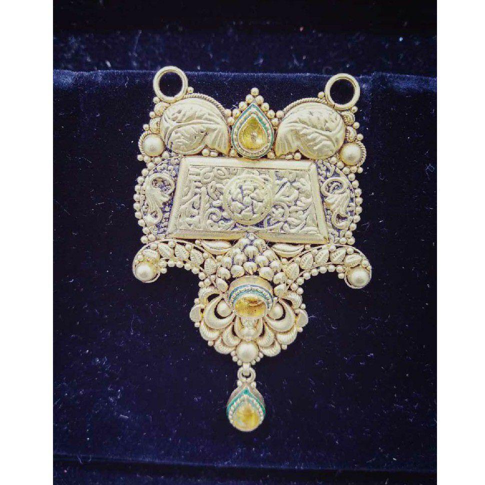 22KT Gold Fancy Jadtar Mangalsutra Pendant