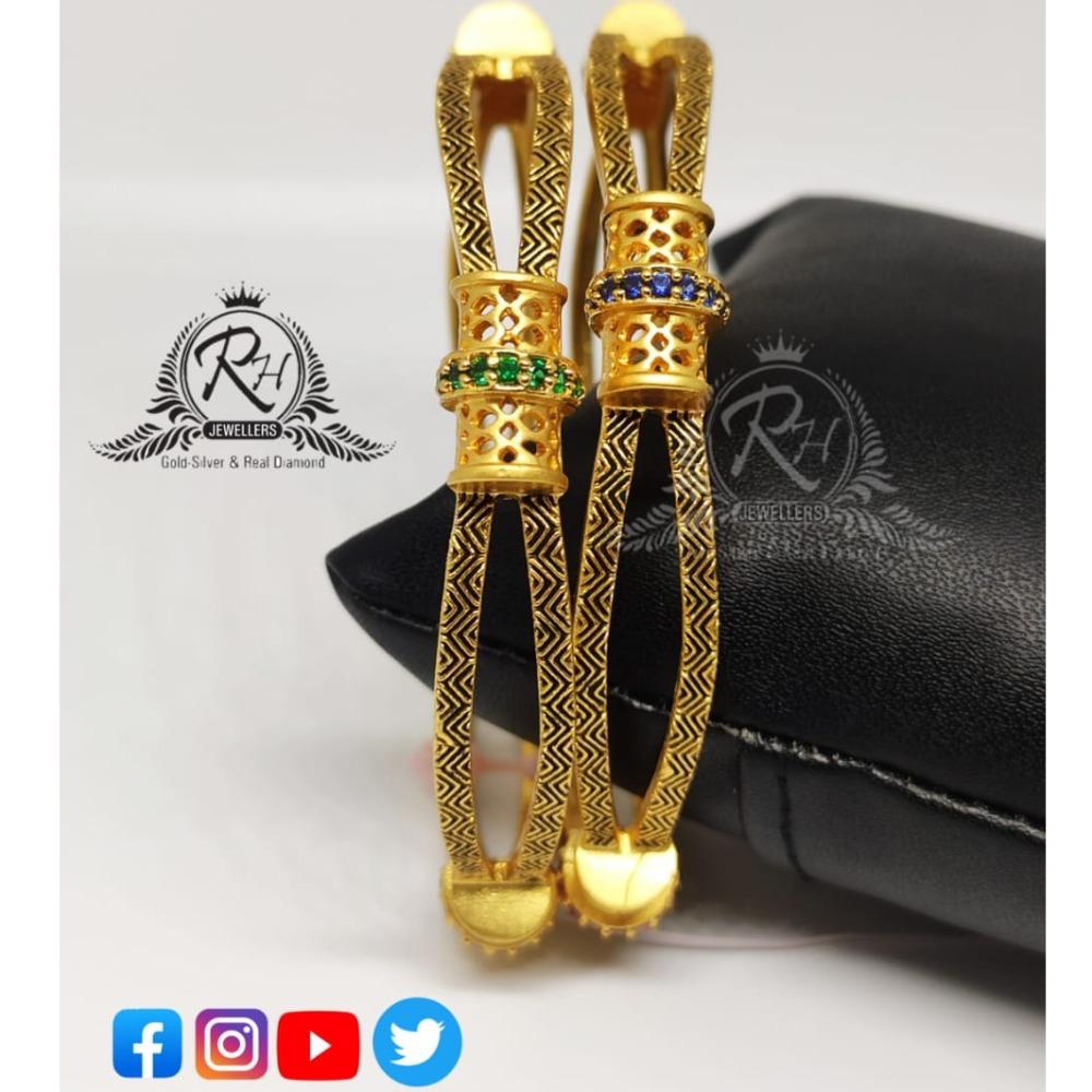 22 carat gold fancy ladies bangles RH-LB078
