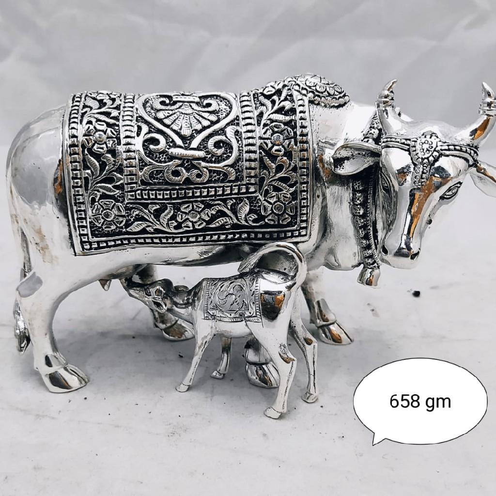 Silver cow calf idol jys0027