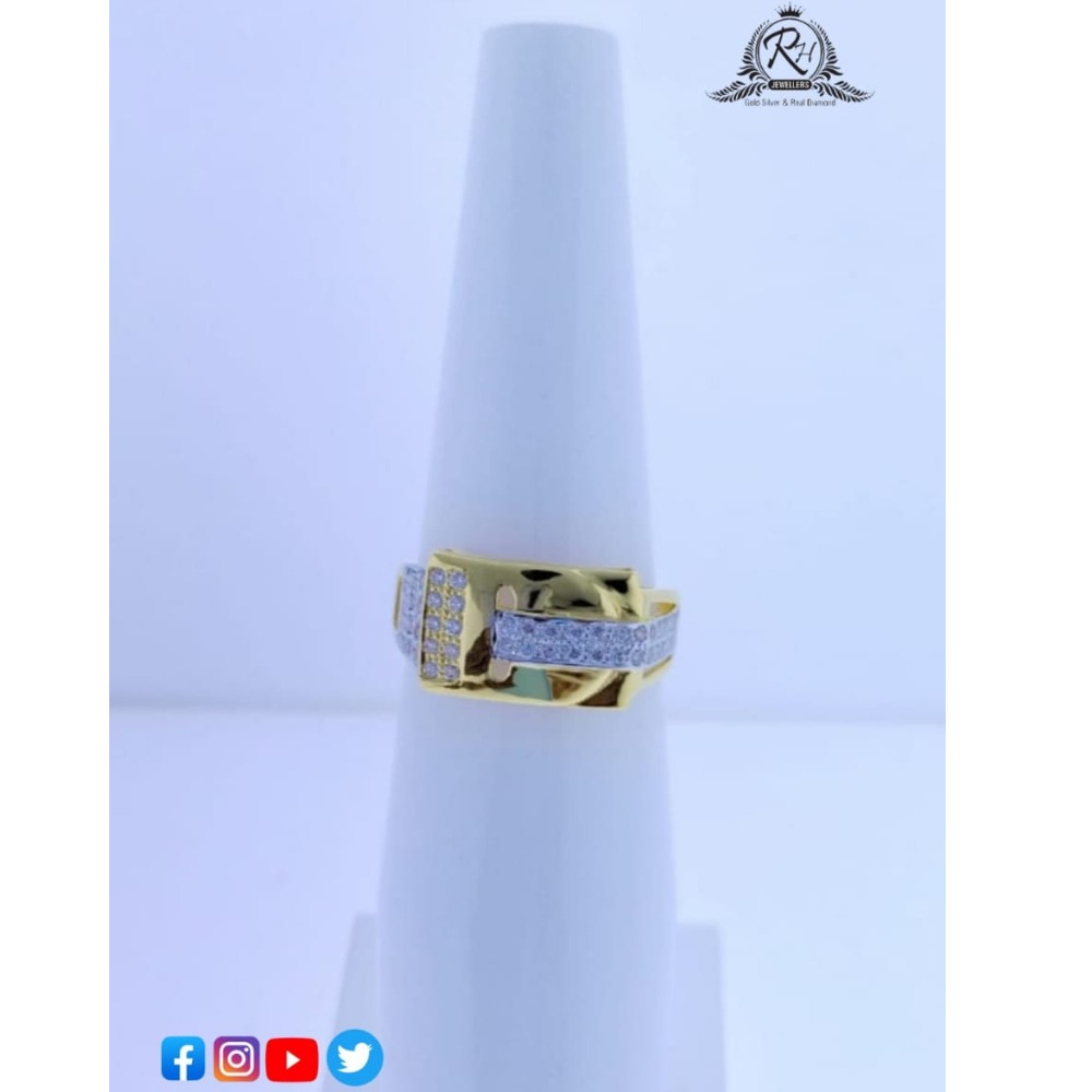 22 carat gold daimond gents rings RH-GR660