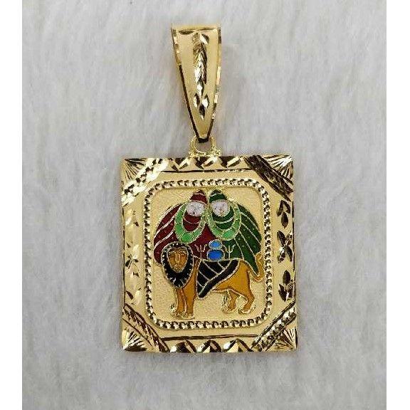 Gold god pendant