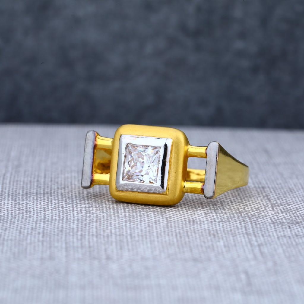 Exclusive Engagement Mens Solitaire Gold Ring-MSR23