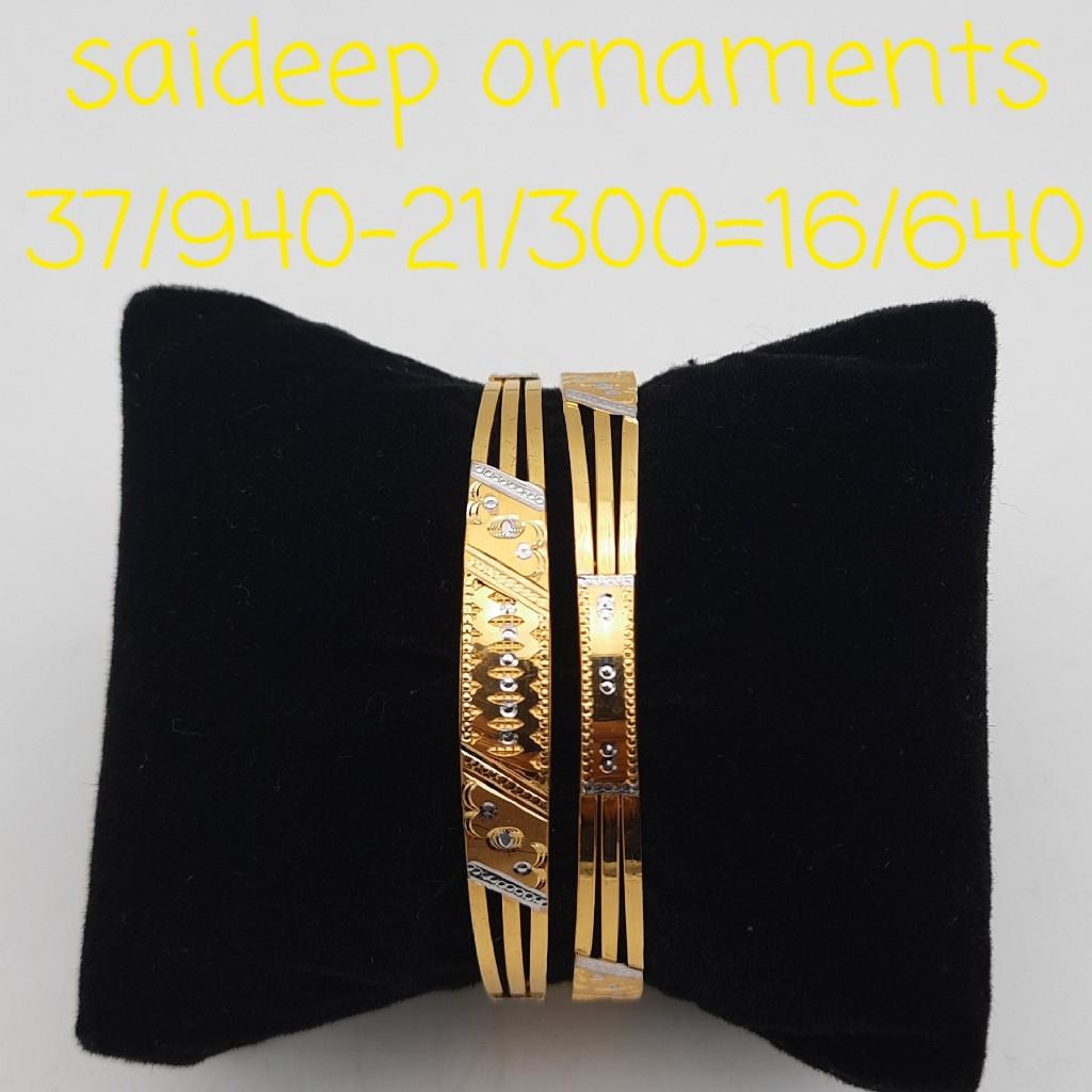 22 kt copper kada bangle design