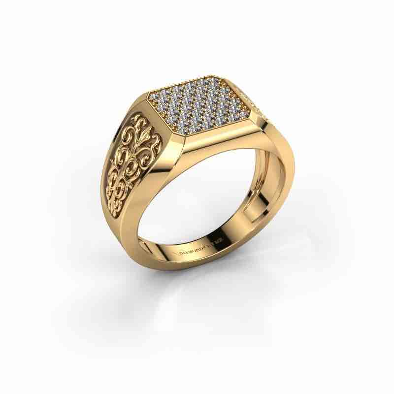 Antique carving gents ring