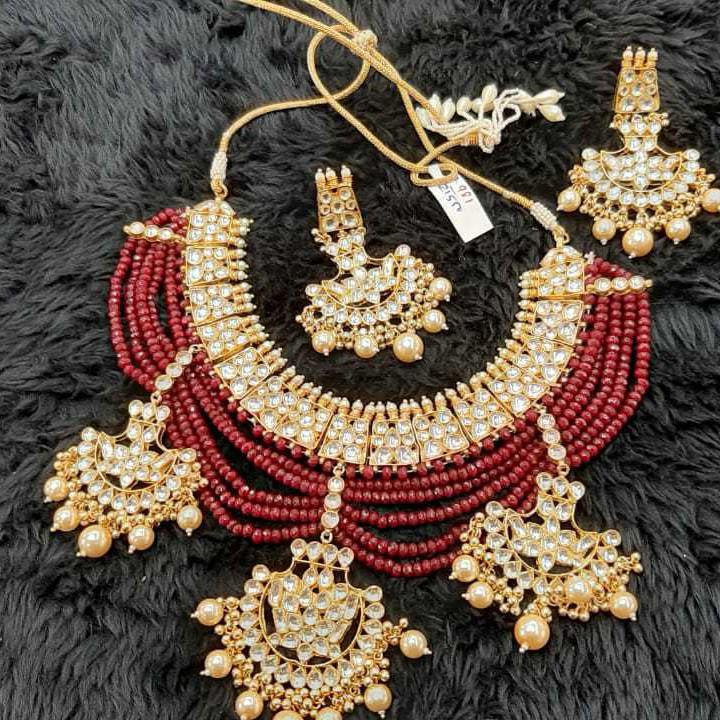 designer bridal necklace#218
