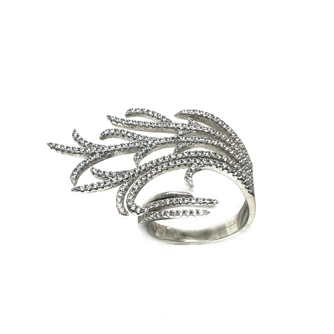 925 Sterling Silver Modern Style Ring MGA - LRS0049