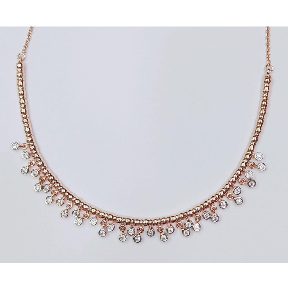 Rose Gold Plated Modern Necklace For Women MJ-N003