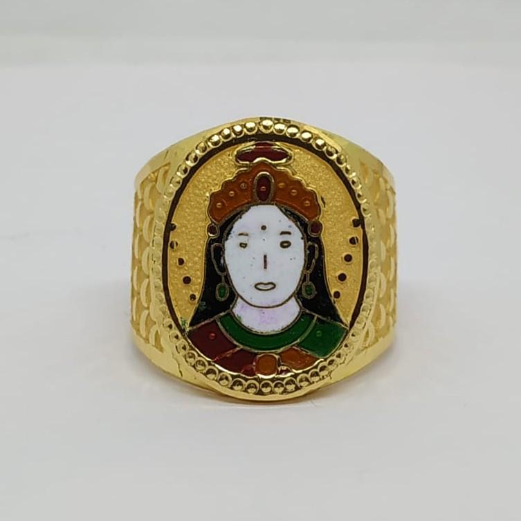916 Gold Fancy Gent's Chehar Maa Ring