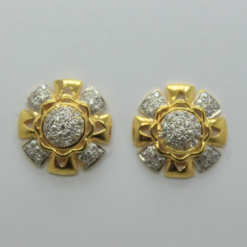 22k/916 fancy round earrings