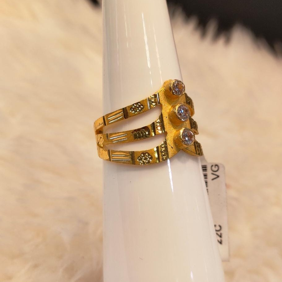 22KT Gold Hallmark Diamond Ring