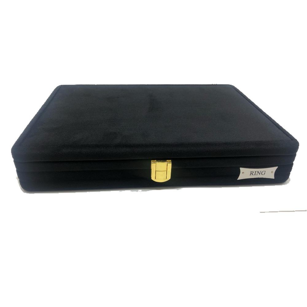 Jewellery black swede stock box